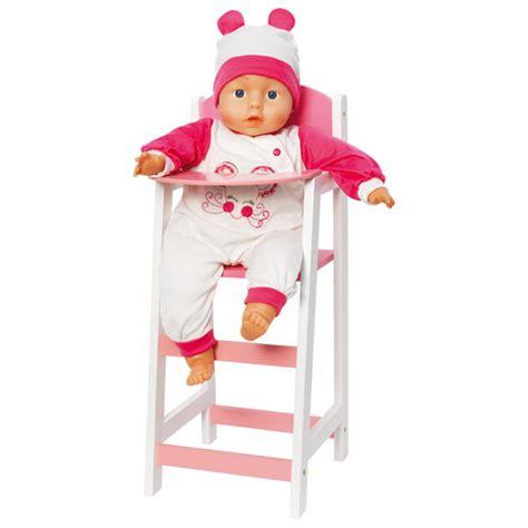 chaise haute poupée chaise haute pour poupée bebe king jouet