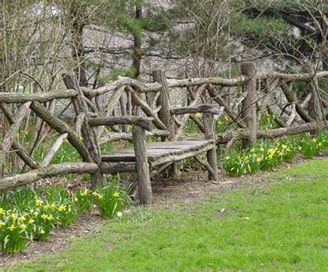 good ideas  rustic fence   home