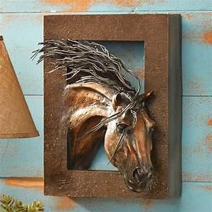 wild beauty 3 d horse wall sculpture With horse wall art