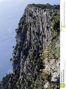 Steep Cliff Capri Royalty Free Stock Photo