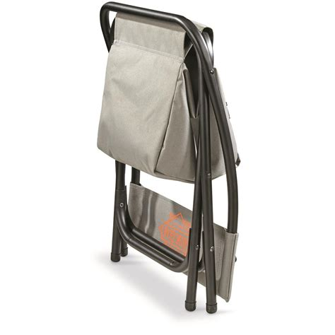 guide gear folding cooler ice fishing chair 676136 ice