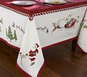 get christmas table linens for your special event home With christmas tablecloths and runners