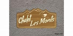 Plaque De Maison : plaque de maison chalet 1 signe ~ Teatrodelosmanantiales.com Idées de Décoration