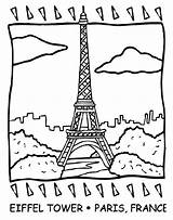 Coloring Crayola Tower Eiffel Pages sketch template