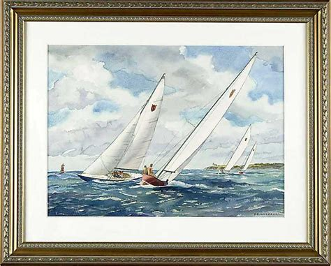 soderberg yngve edward watercolor marine painting