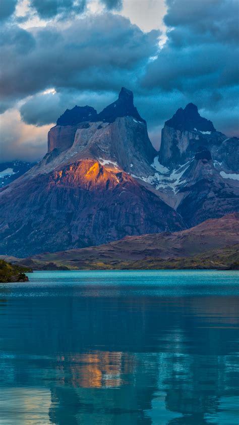 Landscape Argentina Mountain Lake Patagonia Clouds Nature