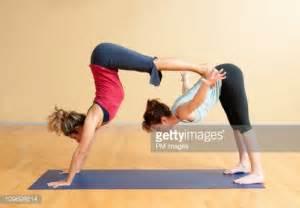 Two People Yoga Challenge Poses