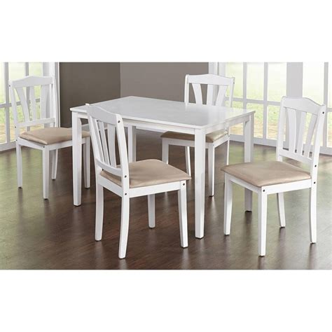 piece dining set kitchen table  upholstered chairs