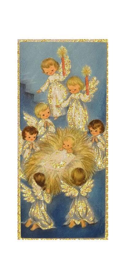 Christmas Angels Animated Merry Glitter Jesus Snow