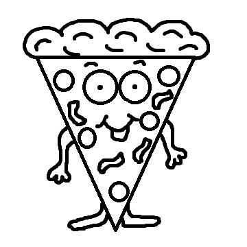 pizza clipart black and white pepperoni pizza clipart black and white clipart panda