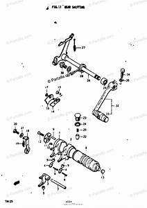 Suzuki Motorcycle 1974 Oem Parts Diagram For Gear Shifting