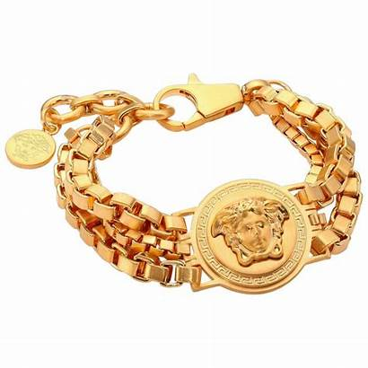 Versace Bracelet Chain Gold Medusa Plated Triple
