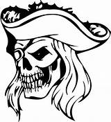 Pirate Coloring Pages Skull Vinyl Face Decal Printable Die Decals Discover Tattoo sketch template