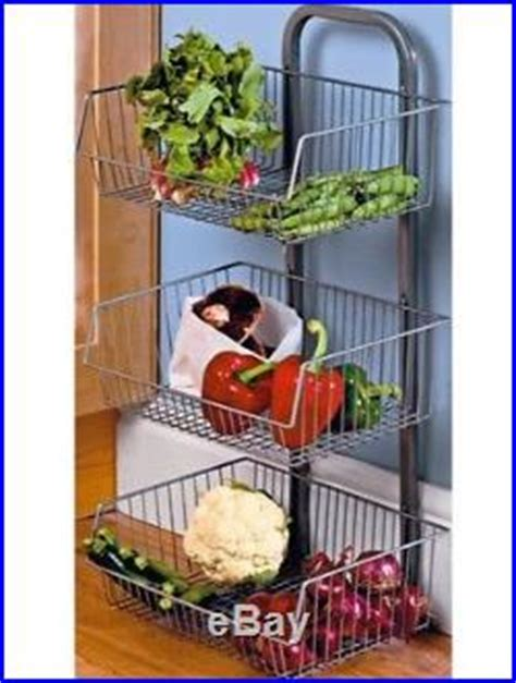 kitchen storage basket kitchen vegetable stand 3 tier fruit basket metal storage 3118