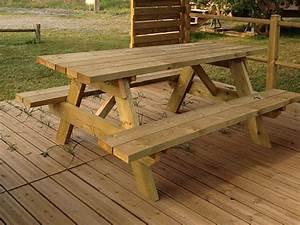 Table Jardin En Bois : table bois jardin meuble jardin bois maison email ~ Dode.kayakingforconservation.com Idées de Décoration