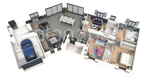 maison 4 chambres plan de maison 3d pictures to pin on pinsdaddy