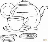 Teapot Coloring Template sketch template