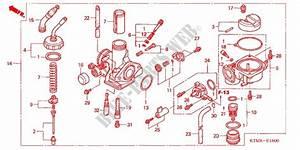 Carburetor 2 Engine Anf125mr7 2007 Wave 125 Moto Honda