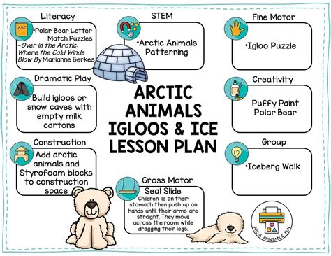 pre k printable pre k printable 857 | arctic animals preschool lesson plan 1 orig