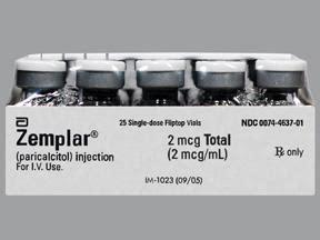 zemplar vitamin  paricalcitol  mcg ml intravenous