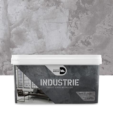 peinture 224 effet industrie maison deco gris alliage 4 kg leroy merlin