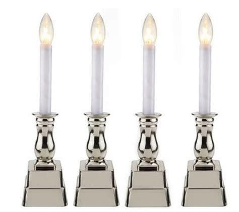 bethlehem lights set of 4 battery op window candles qvc
