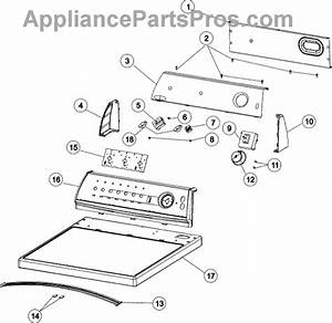 Parts For Admiral Ade7005akw  Control Panel  U0026 Top  7005akw  Parts