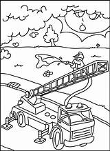 Firefighters Coloring Fire sketch template
