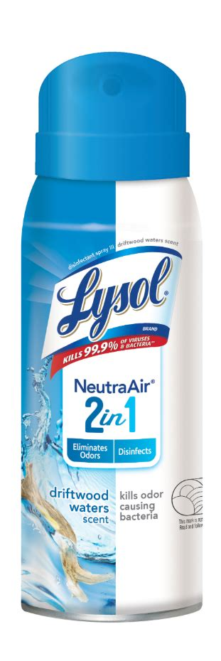 Lysol Disinfectant Spray, Neutra Air 2 in 1, Driftwood