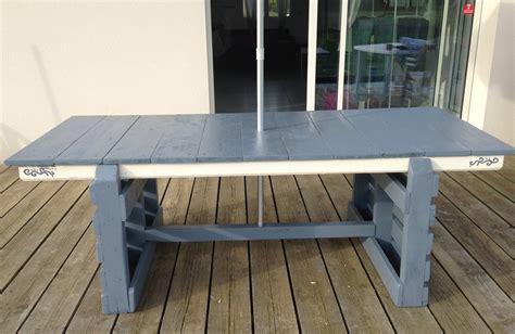 table cuisine palette tuto création d 39 une table de jardin table d 39 exterieur