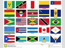 Sistema Del Vector De Las Banderas Del Continente De