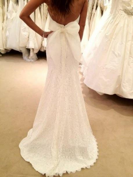 dress bridal gown lace dress  cut  bow wedding