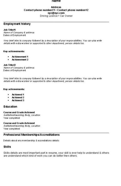 Resumes And Easy by Easy Resume Template Template Business