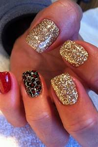 Red gold n black nails | Nailed. | Pinterest