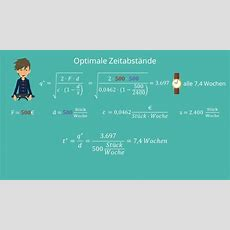 Optimale Losgröße Und Optimale Bestellmenge · Studyflix