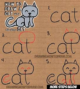 How to Draw a Cat from the word Cat Simple Step by Step ...