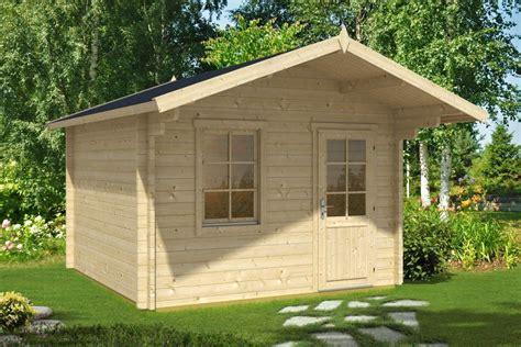Gartenhaus Mit Vordach Oslo 10,5m² 50mm  3x3 Hansagarten24
