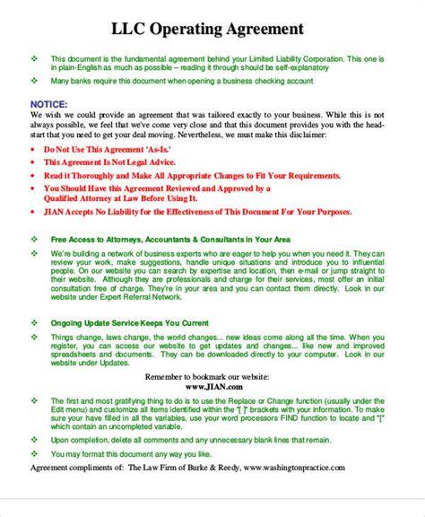 printable agreement samples  ms word