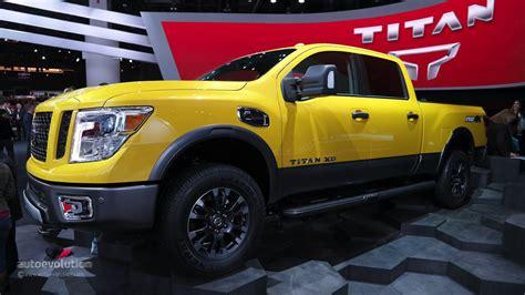 nissan cummins 2016 nissan titan xd cummins light duty truck has heavy