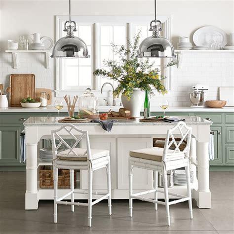 barrelson kitchen island  marble top williams sonoma