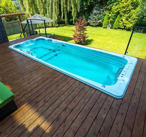 swim spa install ideas images  pinterest