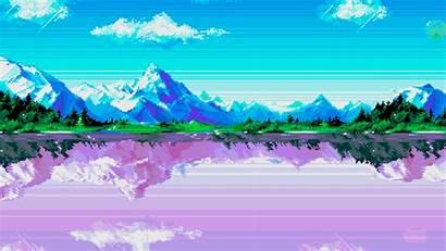 Pixel Mountains Lake Mountain River Water Nature