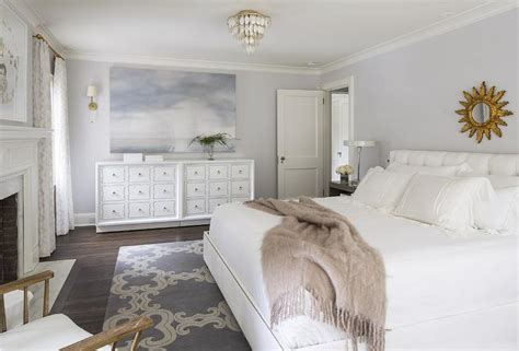 grey and gold bedroom white and gray bedroom with gold sunburst mirror 15482