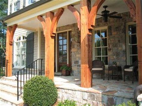 cedar post front porches  timber porch posts home