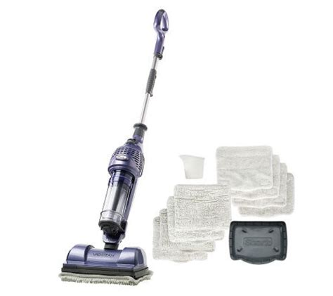 shark steam vac shark vac then steam hardfloorsystem with 8 pads and storage stand page 1 qvc com