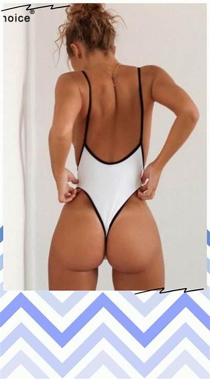 Swimwear Swimsuit Bathing Piece Thong Suits Cut