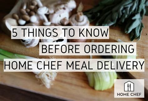 ordering home chef meal