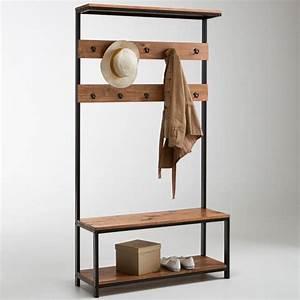 meuble d39entree hiba meuble vestiaire pin massif et la With marvelous fabriquer un meuble d entree 0 fabriquer un meuble de rangement pour une entree