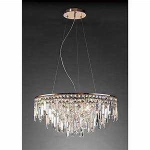 Diyas maddison circular light crystal and rose gold