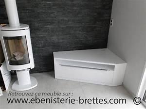 Meuble De Tele D Angle : meuble de t l vision d 39 angle blanc brillant design avec rangements livr nantes en r gion pays ~ Nature-et-papiers.com Idées de Décoration